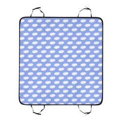 Clouds and Polka Dots on Blue New Pet Car Seat 55''x58''