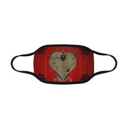 Wonderful decorative heart Mouth Mask