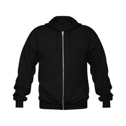 Feelin Pink black hoodie Gildan Full Zip Hooded Sweatshirt (Model H02)