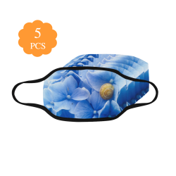 Snail & Hydrangea Flowers Mouth Mask (Pack of 5)