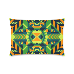 "Modern Geometric Pattern Custom Zippered Pillow Case 16""x24""(Twin Sides)"
