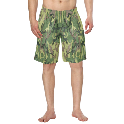 Military Camo Green Woodland Camouflage Men's Swim Trunk (Model L21)