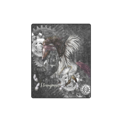 """Aweswome steampunk horse with wings Blanket 40""""x50"""""""