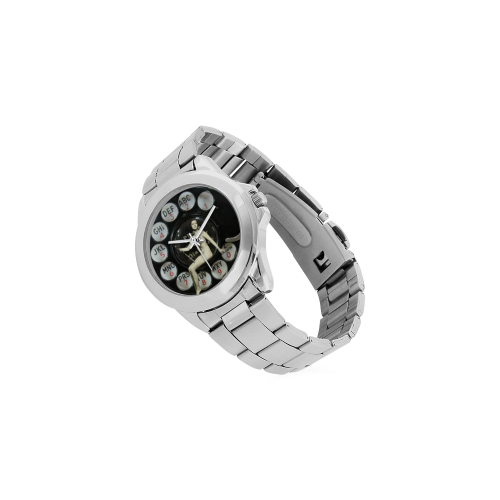 Please Wait for the Dial Tone 2 Unisex Stainless Steel Watch(Model 103)
