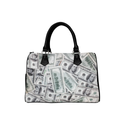 Cash Money / Hundred Dollar Bills Boston Handbag (Model 1621)