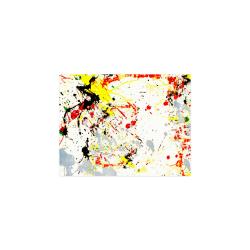 "Black, Red, Yellow Paint Splatter Poster 11""x8.5"""