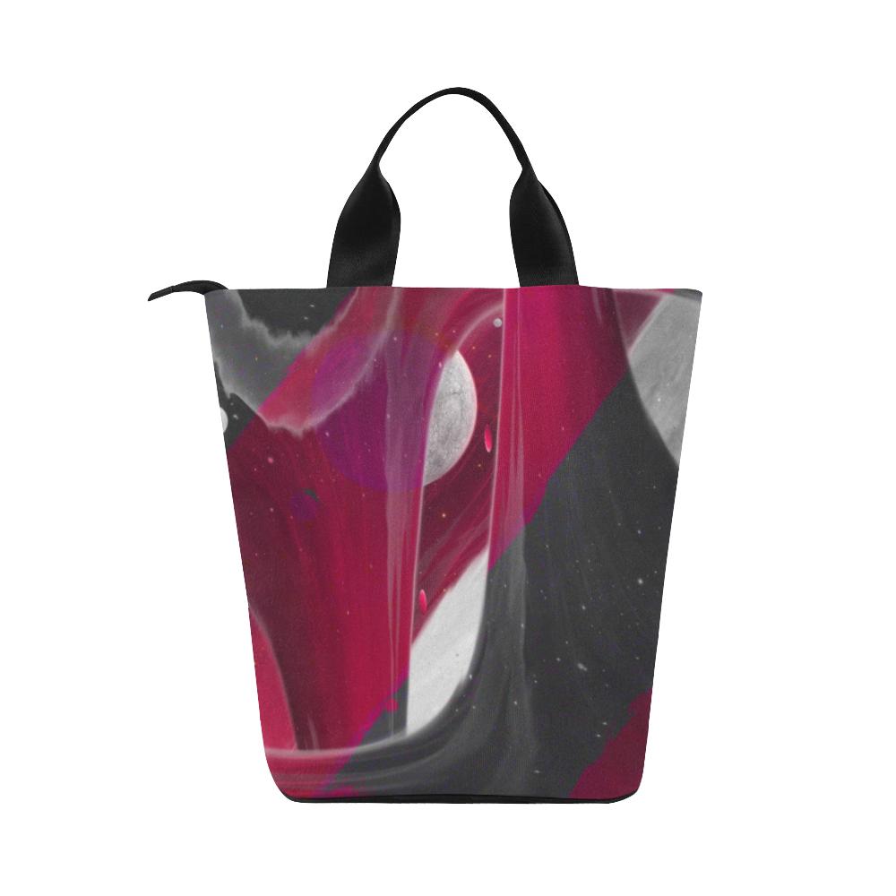 Maroon Sky Night Crew Nylon Lunch Tote Bag (Model 1670)