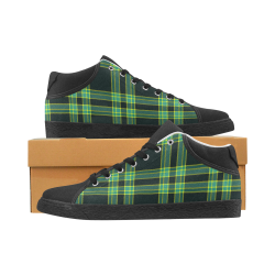 stripes sea green Women's Chukka Canvas Shoes (Model 003)
