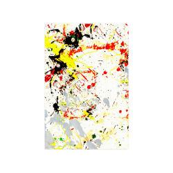 "Black, Red, Yellow Paint Splatter Poster 16""x24"""