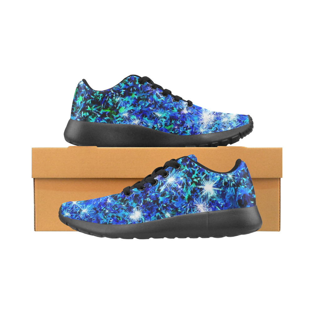 Sparkling Blue by Jera Nour Women's Running Shoes/Large Size (Model 020)