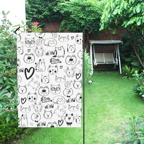 Meow Cats Garden Flag 28''x40'' (Without Flagpole)