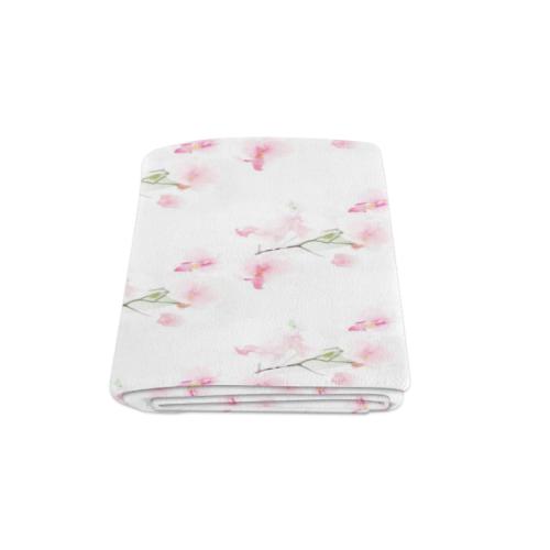 """Pattern Orchidées Blanket 58""""x80"""""""