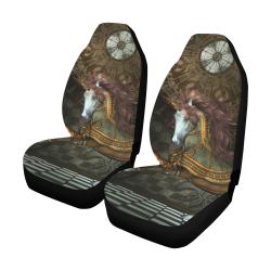 Steampunk, wonderful steampunk horse Car Seat Covers (Set of 2)