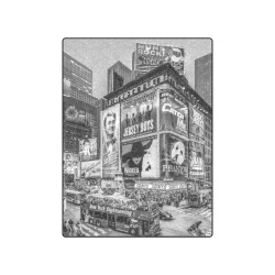 "Times Square III Special Finale Edition B&W Blanket 50""x60"""
