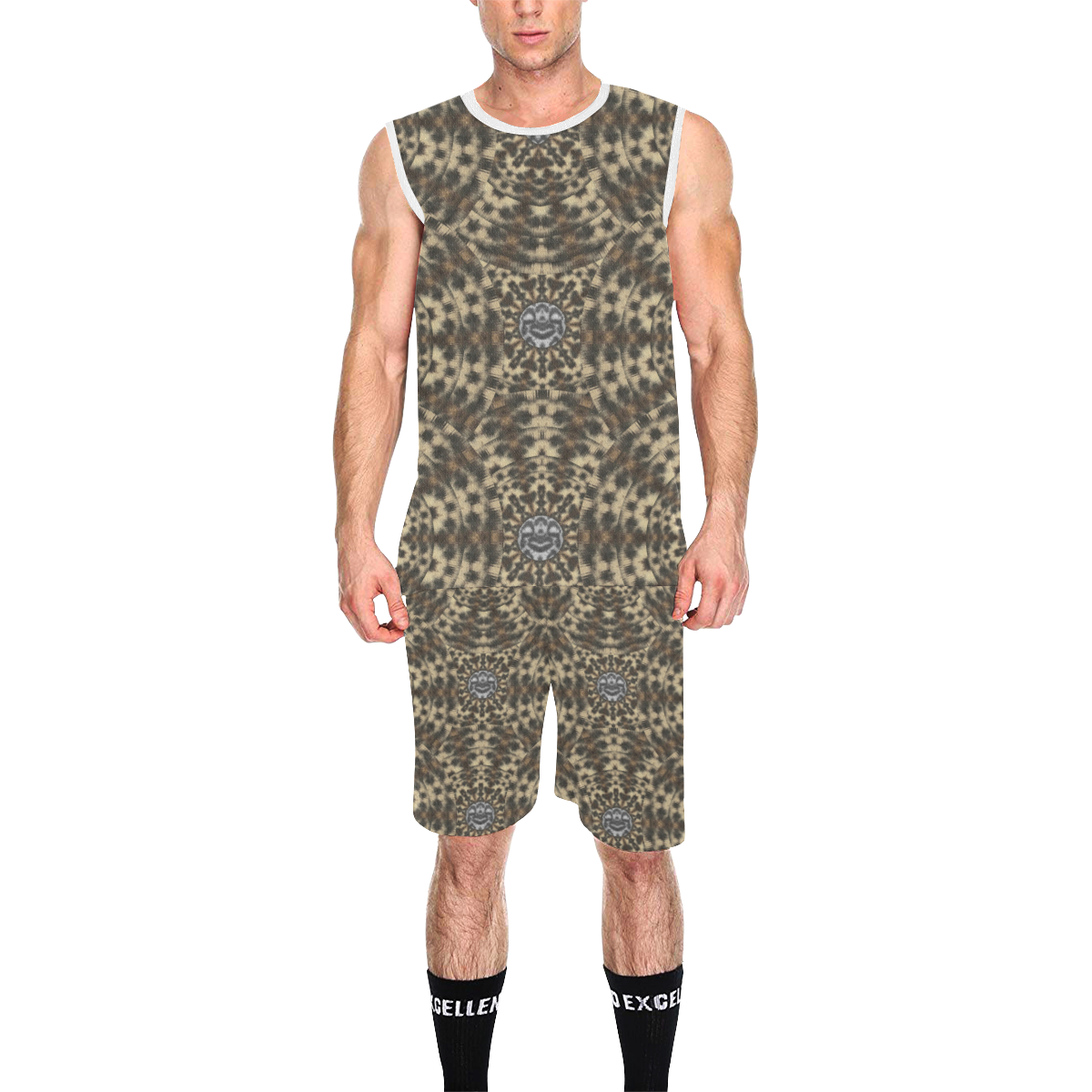 I am big cat with sweet catpaws decorative All Over Print Basketball Uniform