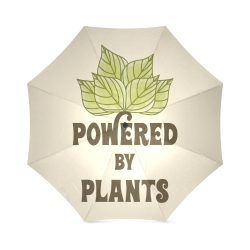 Powered by Plants (vegan) Foldable Umbrella (Model U01)