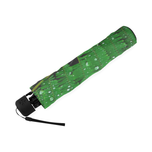 Forest Green Plants with Dew Photo Foldable Umbrella (Model U01)