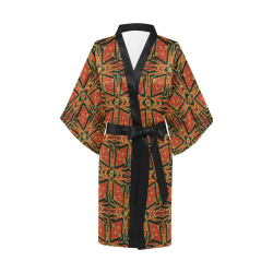 geometric doodle 2 Kimono Robe