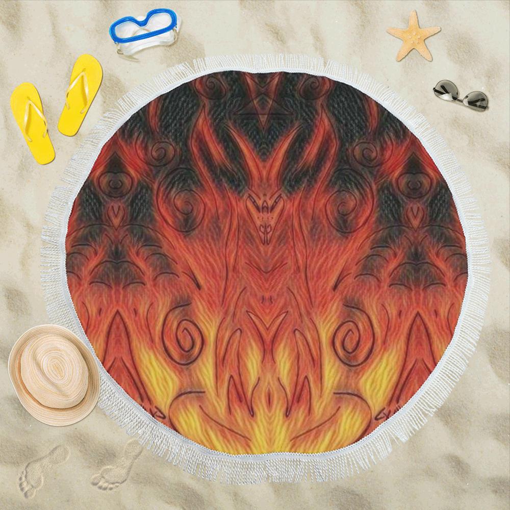"ceed4 Circular Beach Shawl 59""x 59"""