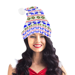 Christmas Ugly Sweater 'Deal With It' White Santa Hat