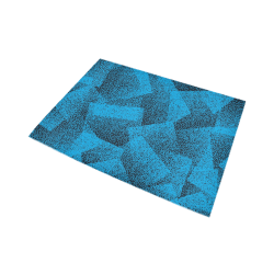 Blue Stippled Area Rug Area Rug7'x5'