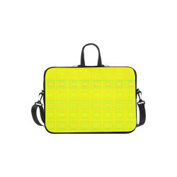 Yellow multicolored multiple squares Laptop Handbags 11""