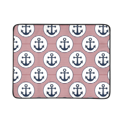 "navy and red anchor nautical design Beach Mat 78""x 60"""