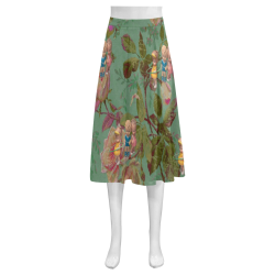 Hooping in The Rose Garden Mnemosyne Women's Crepe Skirt (Model D16)