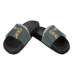 Baseball player Men's Slide Sandals (Model 057)