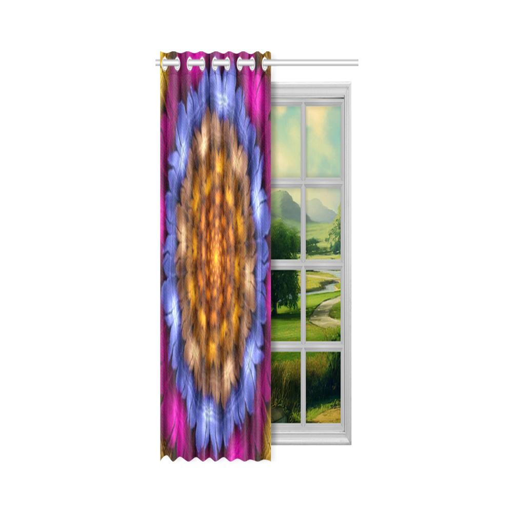 "Fractal flash New Window Curtain 50"" x 108""(One Piece)"