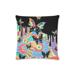 "Fantasy Paisley Ornaments Pattern pastel white Custom Zippered Pillow Case 16""x16""(Twin Sides)"