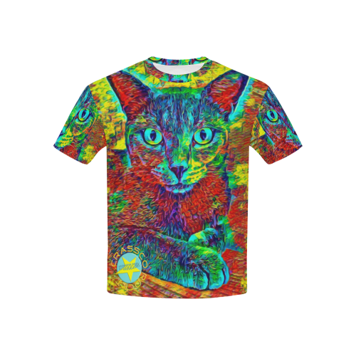 MULTICOLOR CAT BEN Kids' All Over Print T-shirt (USA Size) (Model T40)