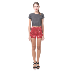 Sparkling Sequin-Like Pattern Briseis Skinny Shorts (Model L04)