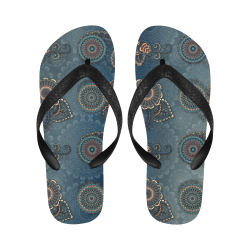 Mandalas Flip Flops for Men/Women (Model 040)
