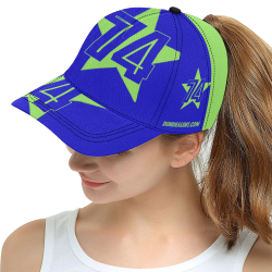 Dundealent 745 star Seahawks Blue/Green All Over Print Snapback Hat D