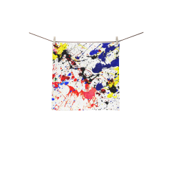 "Blue & Red Paint Splatter Square Towel 13""x13"""