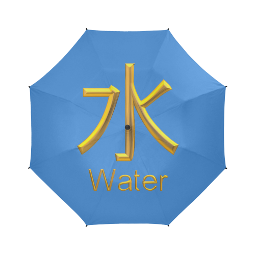 e-Golden Asian Symbol for Water Semi-Automatic Foldable Umbrella (Model U05)