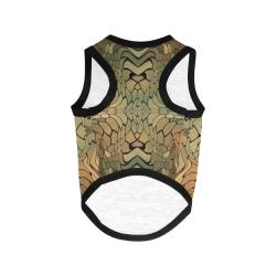 dragon reptile snakeskin pattern All Over Print Pet Tank Top