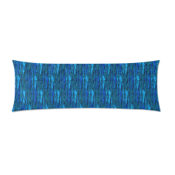 """Abstract Scales of Blue Strands Custom Zippered Pillow Case 21""""x60""""(Two Sides)"""