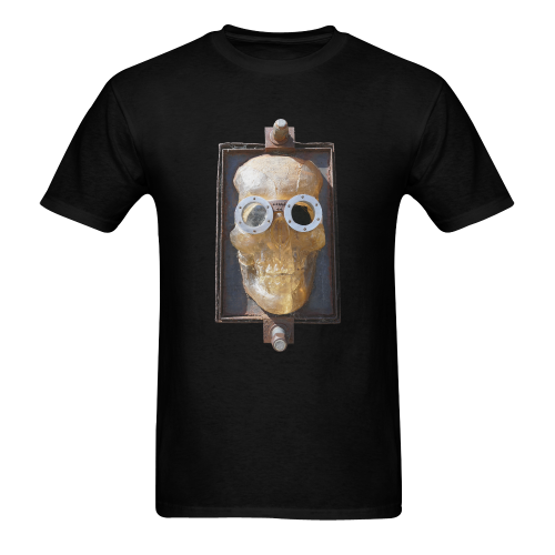 Steampunk Skull Photo Men's T-Shirt in USA Size (Two Sides Printing)