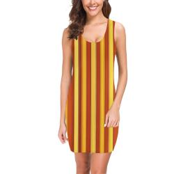 Autumn stripes Medea Vest Dress (Model D06)