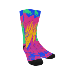 Groovy Paint Brush Strokes with Music Notes Trouser Socks