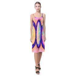 Colorful Abstract Painting Sundress Alcestis Slip Dress (Model D05)
