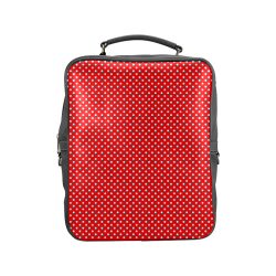 Red polka dots Square Backpack (Model 1618)