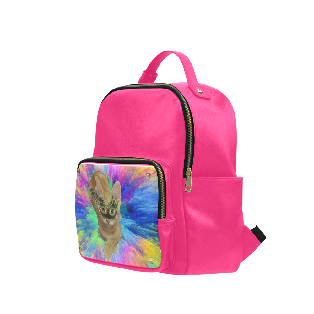 Precious Kitty Pink BackPack Campus backpack/Large (Model 1650)