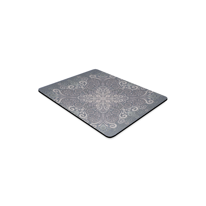 Vintage Ornate Gray - Green Powder Shades Mandala Rectangle Mousepad