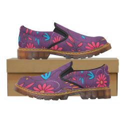 FLORAL DESIGN 3 Martin Women's Slip-On Loafer (Model 12031)