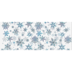 """Snowflakes, Blue snow, Christmas Gift Wrapping Paper 58""""x 23"""" (1 Roll)"""