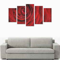 Red rosa Canvas Print Sets A (No Frame)