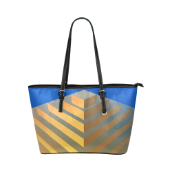 Golden Pyramid Leather Tote Bag/Large (Model 1651)